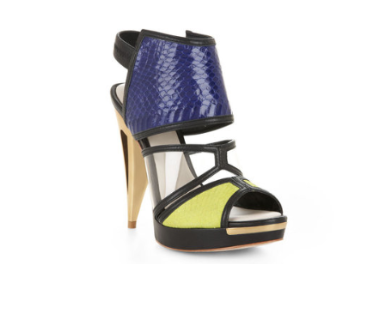 Runway Hex Color-Blocked Sandal